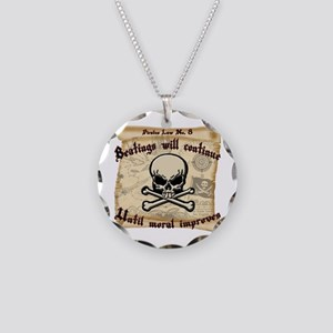 Pirates Law #8 Necklace Circle Charm