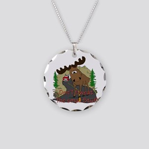 Moose humor Necklace Circle Charm