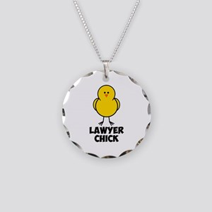 Lawyer Chick Necklace Circle Charm