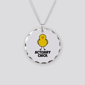 Actuary Chick Necklace Circle Charm