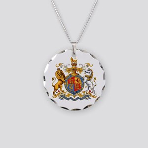 Royal Coat Of Arms Necklace Circle Charm