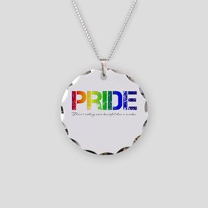 Pride Rainbow Necklace Circle Charm