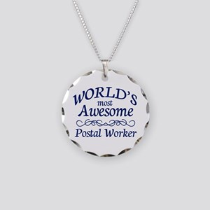 Postal Worker Necklace Circle Charm