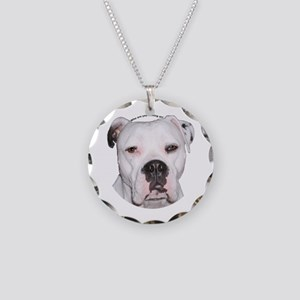 American Bulldog copy Necklace Circle Charm
