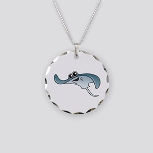 Cartoon Stingray Necklace Circle Charm