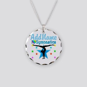 GYMNAST POWER Necklace Circle Charm