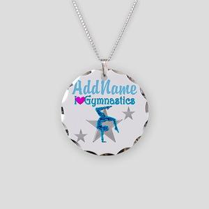 VIBRANT GYMNAST Necklace Circle Charm