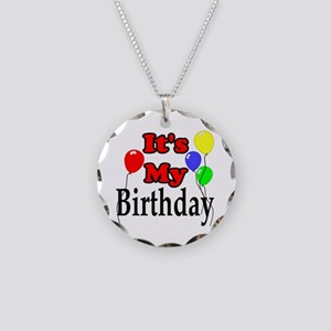 Its My Birthday Necklace Circle Charm
