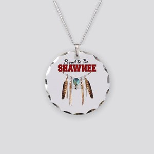 Proud To Be Shawnee Necklace Circle Charm