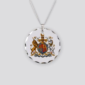 British Royal Coat of Arms Necklace Circle Charm