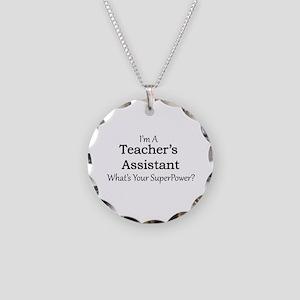 Teacher's Assistant Necklace Circle Charm