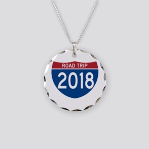 Road Trip 2018 Necklace Circle Charm