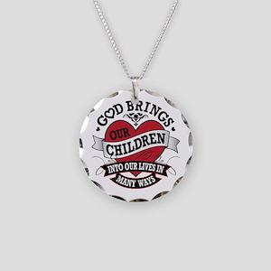 Adoption Tattoo Necklace Circle Charm