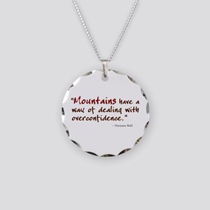 'Mountains' Necklace Circle Charm