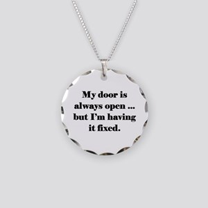 Open Door Necklace Circle Charm