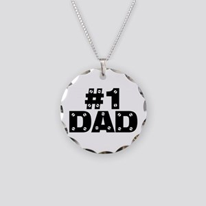 #1 Dad Necklace Circle Charm