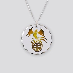 A.A.N.A. Logo Phoenix - Necklace Circle Charm
