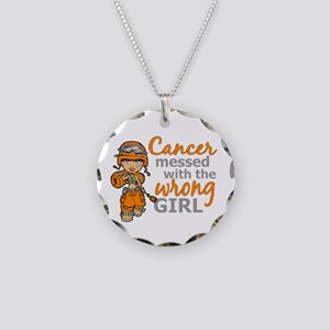 Combat Girl Kidney Cancer Necklace Circle Charm