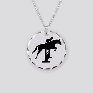 Hunter Jumper Over Fences Necklace Circle Charm