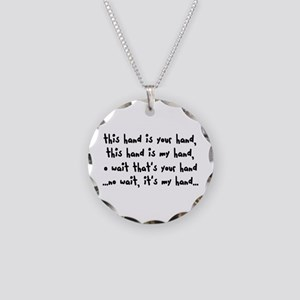 'The Hand Song' Necklace Circle Charm