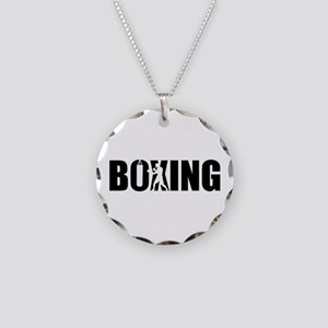 Boxing Necklace Circle Charm