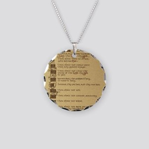 ten commandments Necklace Circle Charm