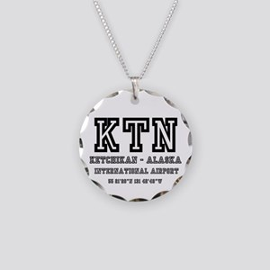 AIRPORT CODES - KTN - KETCHI Necklace Circle Charm