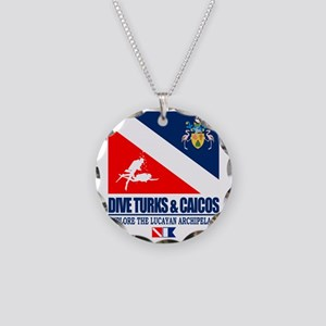Dive Turks  and Caicos Necklace Circle Charm