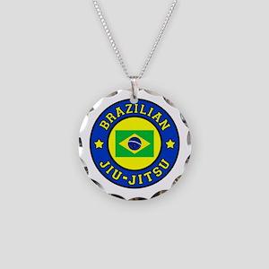 Brazilian Jiu-Jitsu Necklace Circle Charm