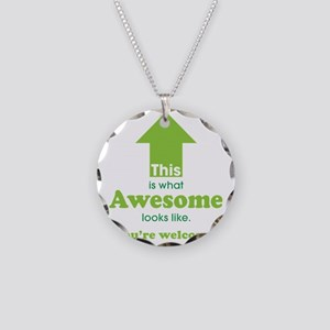 Awesome_lime Necklace Circle Charm