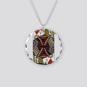 Jack of Hearts Necklace Circle Charm