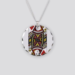 Queen of Hearts Necklace Circle Charm