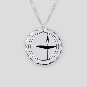 UU Necklace Circle Charm