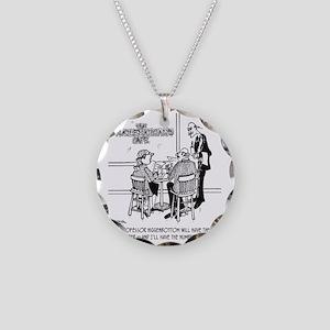 1749_math_cartoon Necklace Circle Charm