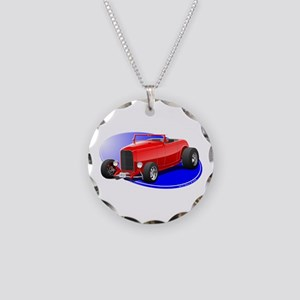 Classic Hot Rod Necklace Circle Charm