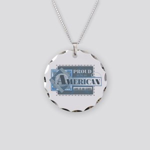Proud to be an American Necklace Circle Charm