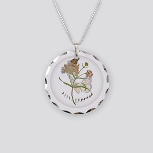 Monarch Butterfly With Necklace Circle Charm