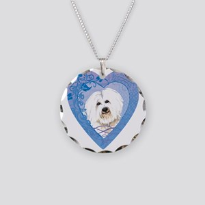 coton-heart Necklace Circle Charm