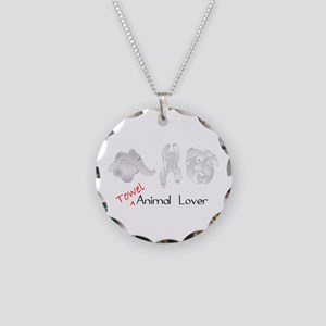 Towel Animal Lover Necklace Circle Charm