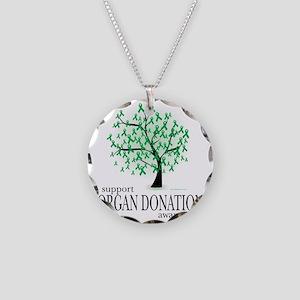 Organ-Donation-Tree Necklace Circle Charm