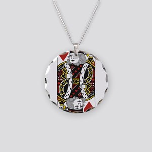 King of Hearts Necklace Circle Charm