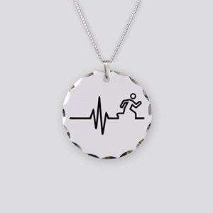 Runner frequency Necklace Circle Charm