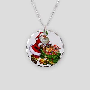 Santa Claus! Necklace Circle Charm