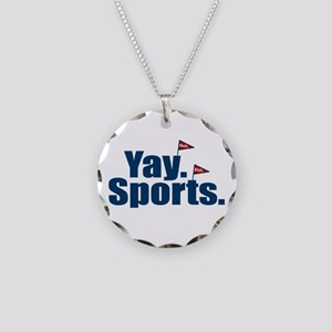 Yay Sports Meh Necklace Circle Charm