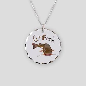 Catfish Necklace Circle Charm