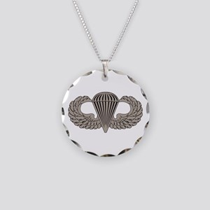 Parachutist Necklace Circle Charm