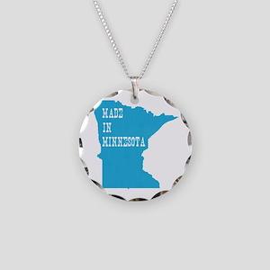 Minnesota Necklace Circle Charm