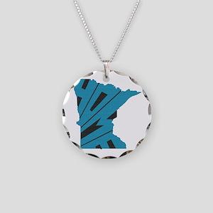 Minnesota Home Necklace Circle Charm
