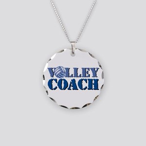 Volley Coach Necklace Circle Charm