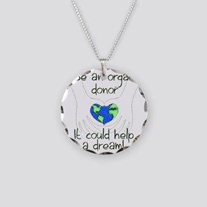 blanket graphic Necklace Circle Charm